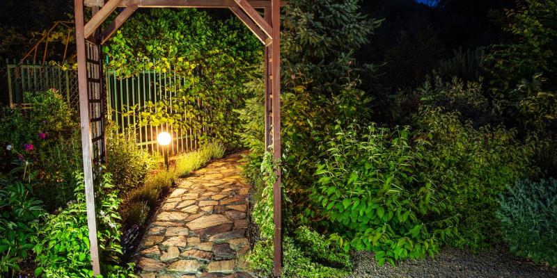 Garden Lighting in Collingwood, Ontario